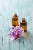 Extract of orxid flowers Stock Photo
