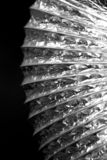 Extract Pipe. Metal foil extract pipe on black background Stock Image