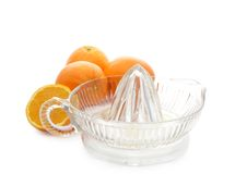 Extracting orange juice Royalty Free Stock Photography
