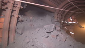 Extracting ore miner stock video