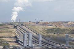 Extraction à ciel ouvert 05 de lignite Photos libres de droits