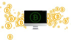 Extraction of cryptocurrency. Mining bitcoin. Mining of crypto currency. Extraction of cryptocurrency. Mining bitcoin Mining of crypto currency Royalty Free Stock Photo
