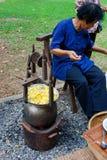 Extraction de l'amorçage en soie Images stock