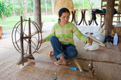 Extraction de l'amorçage en soie Photos stock
