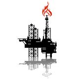 Extraction de pétrole Image stock