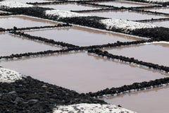 Extraction de sel sur la La Palma Image libre de droits