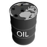 Extraction des produits pétroliers Photo libre de droits