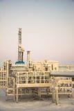 Extraction du pétrole sur le champ du nord Photo libre de droits