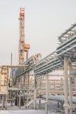 Extraction du pétrole sur le champ du nord Photographie stock