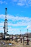 Extraction du pétrole sur le champ du nord Images stock