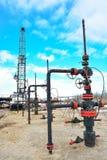 Extraction du pétrole sur le champ du nord Image libre de droits