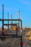 Extraction du pétrole sur le champ du nord Photo stock