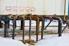Extraction du pétrole sur le champ du nord Photos stock