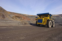 Extraction of iron ore Stock Image