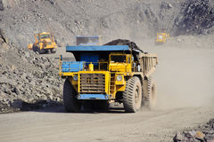 Extraction of iron ore Stock Images