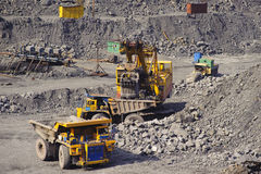 Extraction of iron ore in career royalty free stock photos
