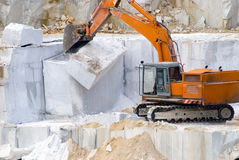 Extraction of a marble. In career Stock Image