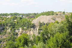 Extraction of mineral resources in granite quarry Royalty Free Stock Photo