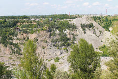 Extraction of mineral resources in granite quarry Royalty Free Stock Image