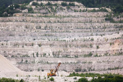 Extraction of minerals in sand quarry Royalty Free Stock Photography