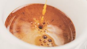 Free Extraction Of Espresso With Rich Crema In Cup Stock Photo - 100265700