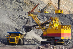 Extraction Of Iron Ore In Career, Mining Machine Stock Photos