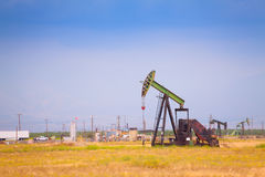 Extraction oil deposits at manufacturing zone Royalty Free Stock Photo