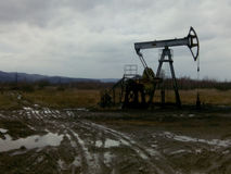 Extraction of oil Stock Photo