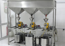 Extraction of oils in factory Royalty Free Stock Photo