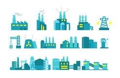 Extraction petroleum. Set of factory illustration Stock Photography