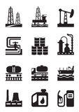Extraction and processing of oil. Vector illustration Royalty Free Stock Photos