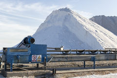 Extraction of salt in a ground mine Royalty Free Stock Image
