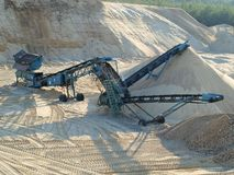 Extraction of sand. South Bohemia, Czech Republic Royalty Free Stock Images