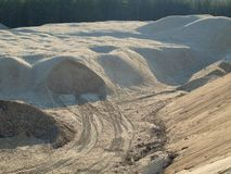 Extraction of sand. South Bohemia, Czech Republic Royalty Free Stock Photos