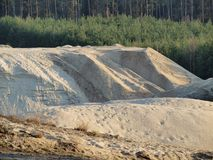Extraction of sand. South Bohemia, Czech Republic Royalty Free Stock Image