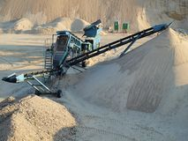 Extraction of sand Stock Photo