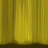 Extracto amarillo de la teatro-cortina fotos de archivo