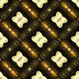 Extracto anaranjado del modelo geométrico Foto de archivo