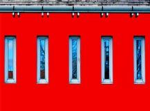 Extracto arquitectónico del detalle en rojo, azul y gris stock de ilustración