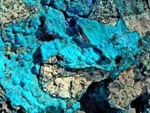 Extracto azul de la roca de la turquesa de Chrysocolla foto de archivo