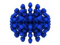 Extracto azul de los polígonos Imágenes de archivo libres de regalías