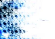 Extracto azul reflejado tecnológico geométrico del triángulo Imagenes de archivo