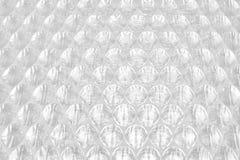 Extracto blanco Backgroun de la película del amortiguador del embalaje o de aire del plástico de burbujas Fotografía de archivo
