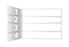 Extracto blanco numerado filas en perspectiva Fotografía de archivo libre de regalías