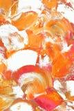 Extracto blanco y anaranjado de los colores Fotos de archivo