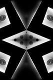 Extracto blanco y negro Foto de archivo