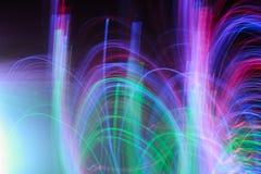 Extracto borroso en luces del color del movimiento, fondo Fotos de archivo