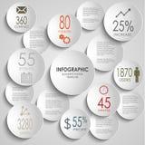 Extracto coloreado alrededor de plantilla infographic Fotos de archivo libres de regalías