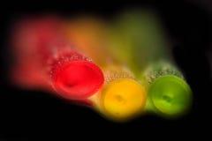 Extracto colorido de las pajas de beber Foto de archivo libre de regalías