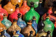 Extracto colorido de los potes foto de archivo
